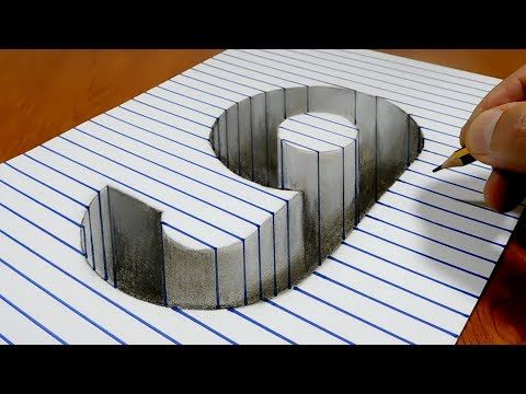 Draw A Number 9 Hole On Line Paper 3d Trick Art Youtube Stay
