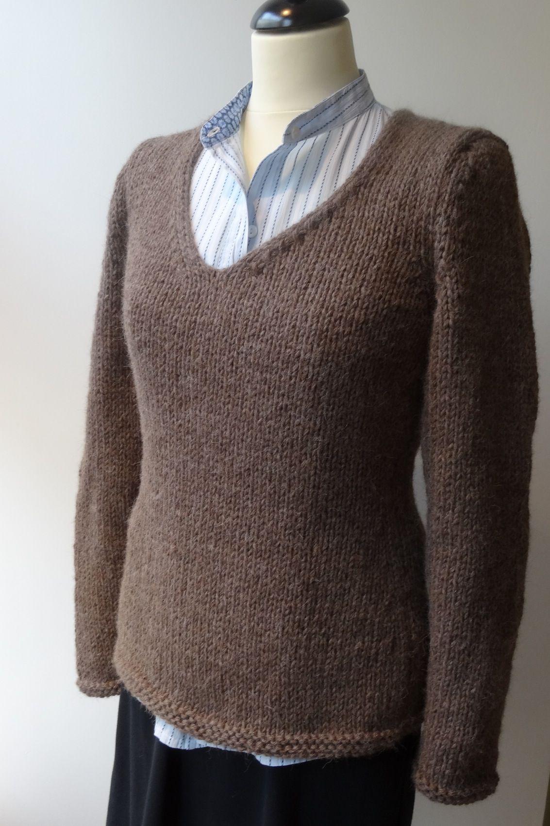 Modele tricot gilet femme facile aiguille 4