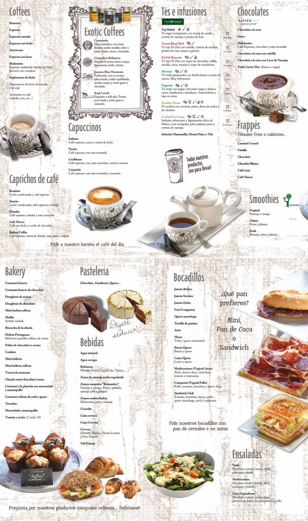 La Carta Cartas De Restaurant Menu De Cafe Diseno Del Menu De Cafeteria