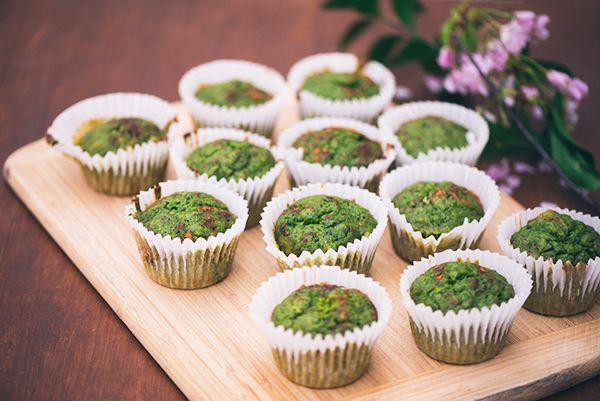 Kale and Banana Muffins