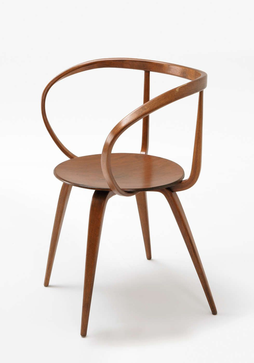 George Nelson   Pretzel Chair, 1952   Laminated Bentwood   Side