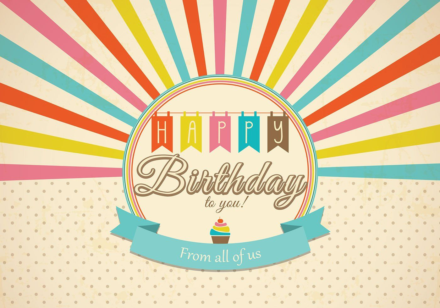 Retro Happy Birthday Card Psd - Free Photoshop Brushes At Within