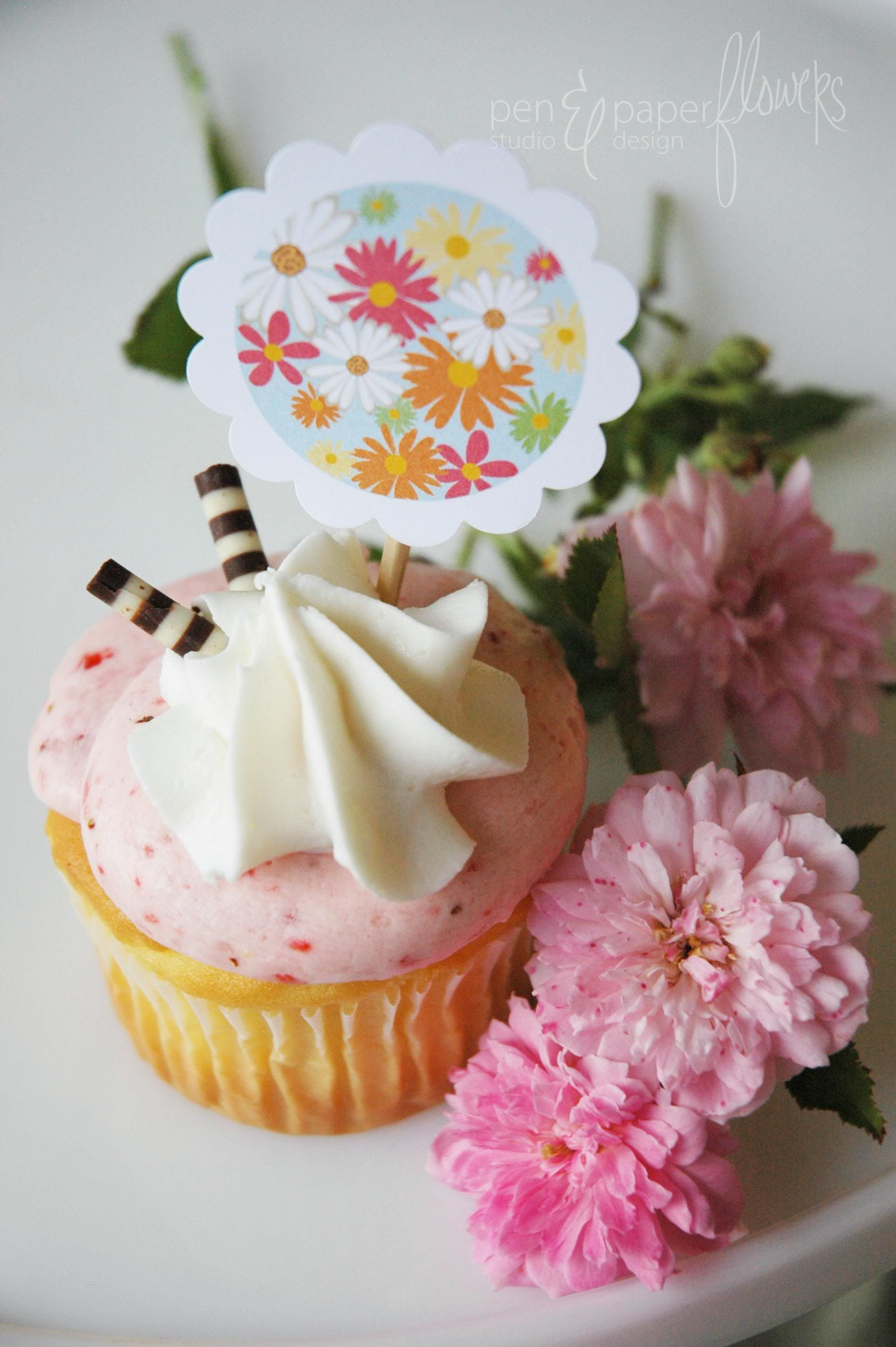 """Cottage Garden Tea Collection""   http://www.etsy.com/shop/penandpaperflowers"
