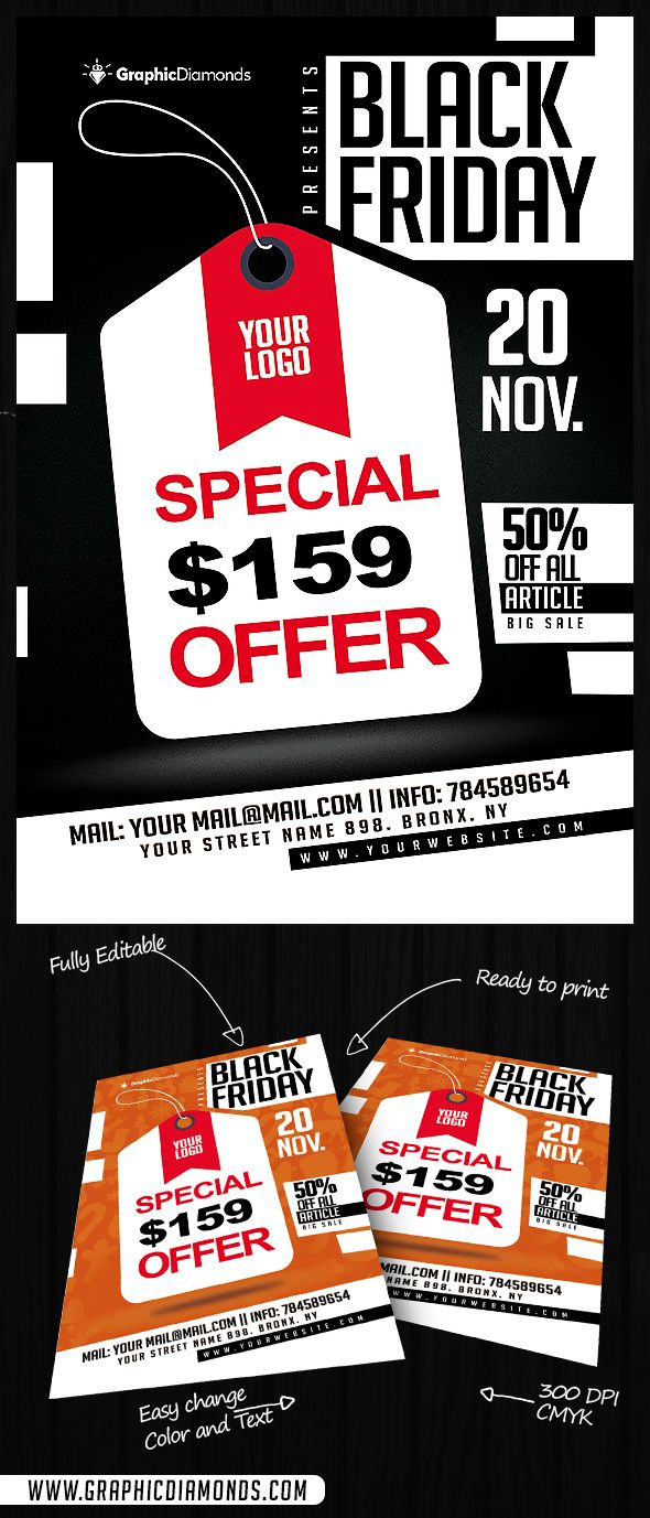 Black Friday Offer Flyer Psd By Graphicdiamonds On Creative Market
