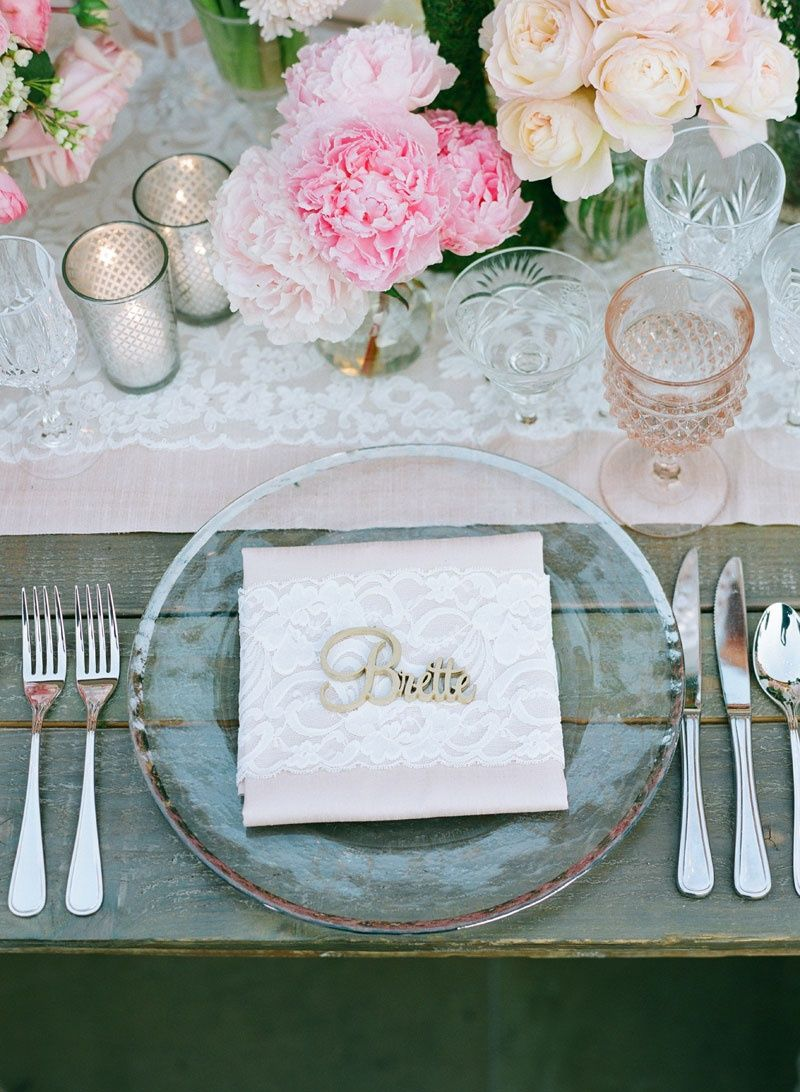 Feminine, Rustic Reception Tablescape Photography: Elizabeth Messina ...