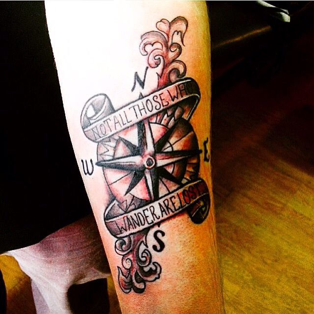 Not All Those Who Wander Are Lost Tattoo Compass Compass Tattoo Not All Those Who Wander Are Lost Lost Tattoo Compass Tattoo Men Compass Tattoo