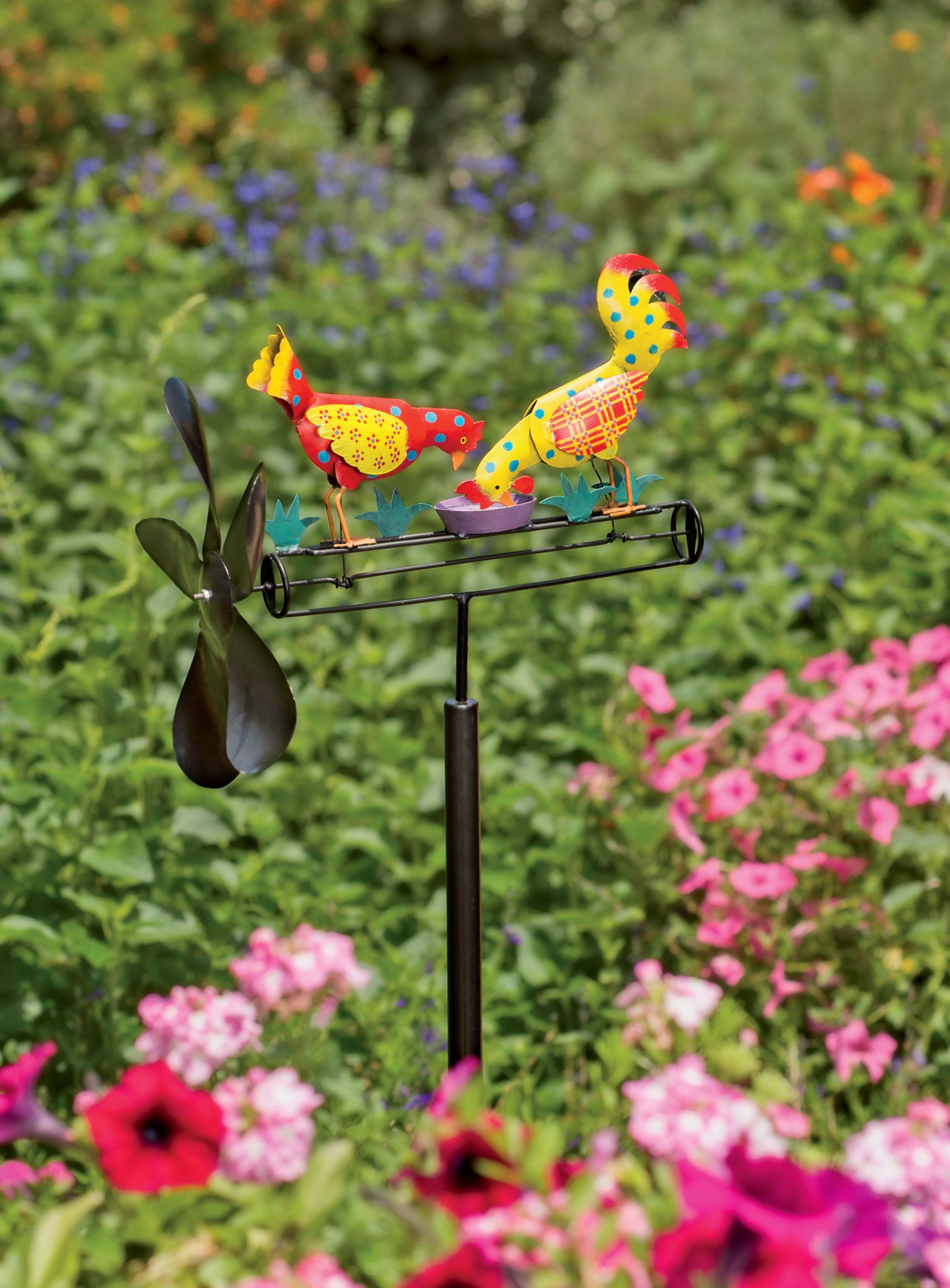 Whirligig: Calico Chicken Whirligig | Kinetic Garden Art Would Love To Have  This To Look