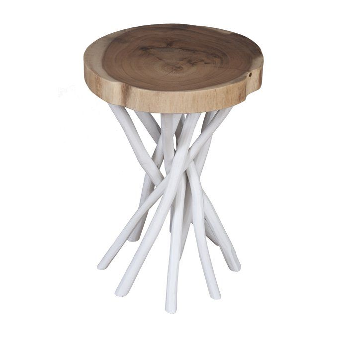 Brimming With Bohemian Brilliance This Alluring End Table Is A Fantastic Foundation On Which To Build Your Bea With Images End Tables Teak Accent Table Round Accent Table
