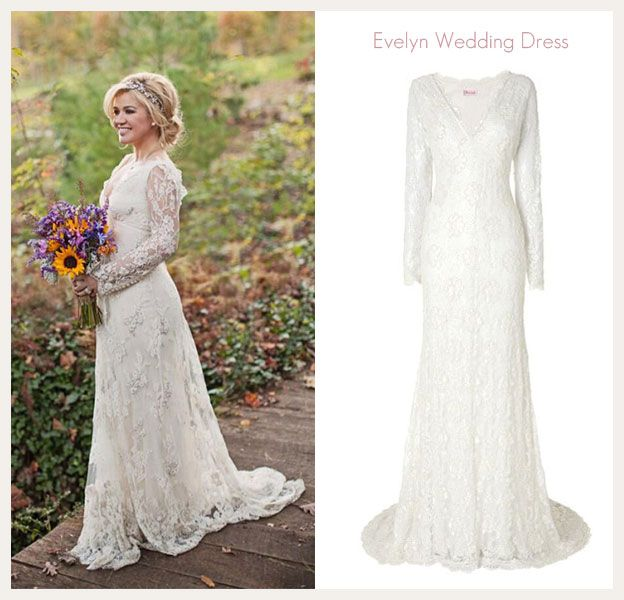 Kelly Clarkson Wedding Dress Get The Look With The Evelyn Wedding