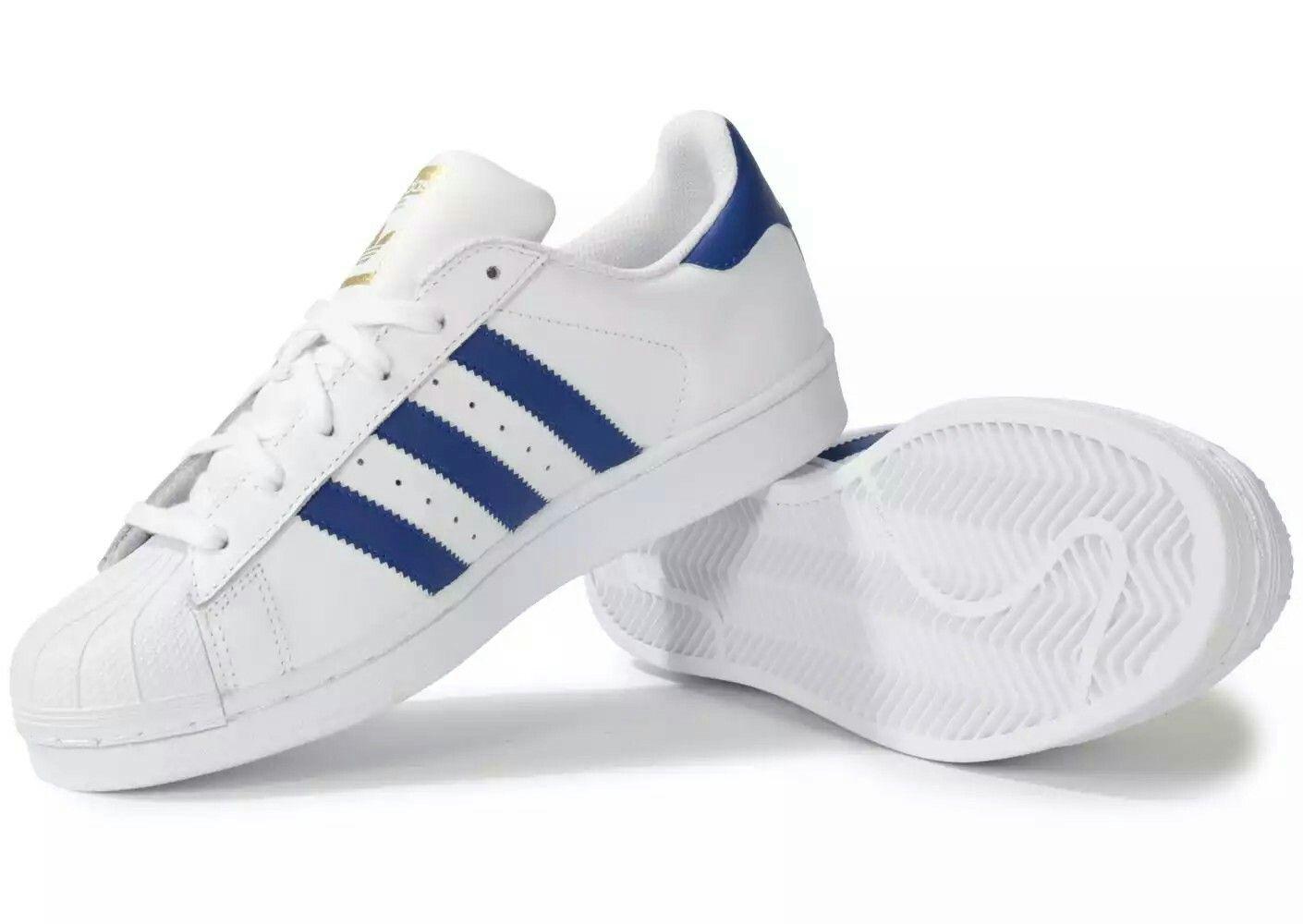 save off f49f4 7cc27 Adidas Superstar Fondation blanc et bleu