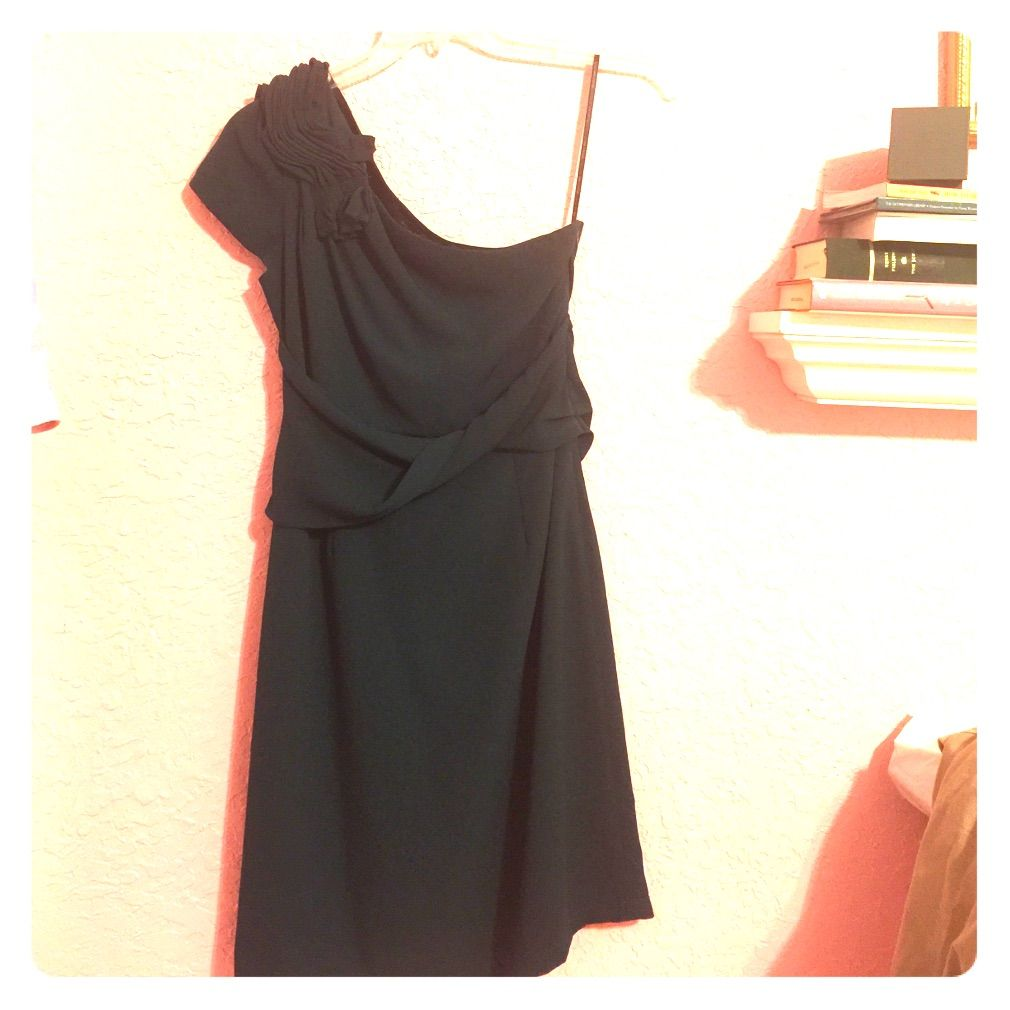 Mm couture pine green one shouldered dress products
