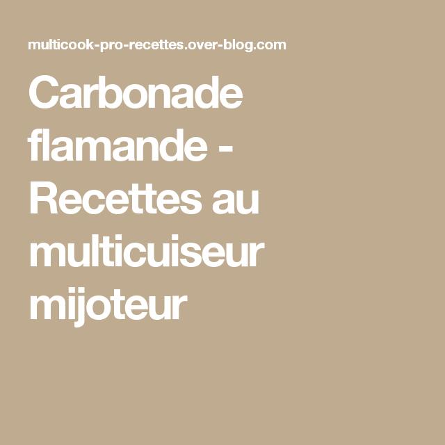 Carbonade flamande -  Recettes au multicuiseur mijoteur