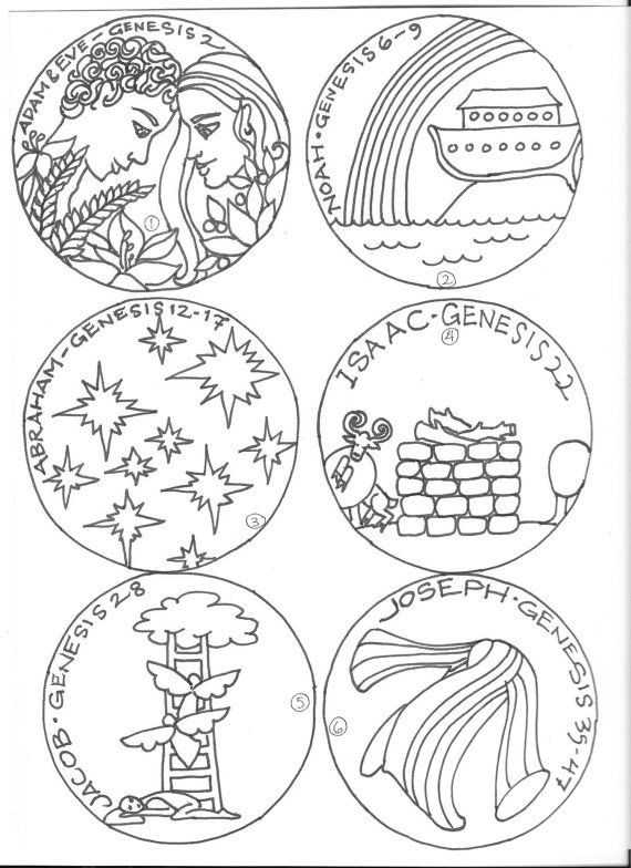 Children's Jesse Tree ornament coloring pages | Jesse tree ...