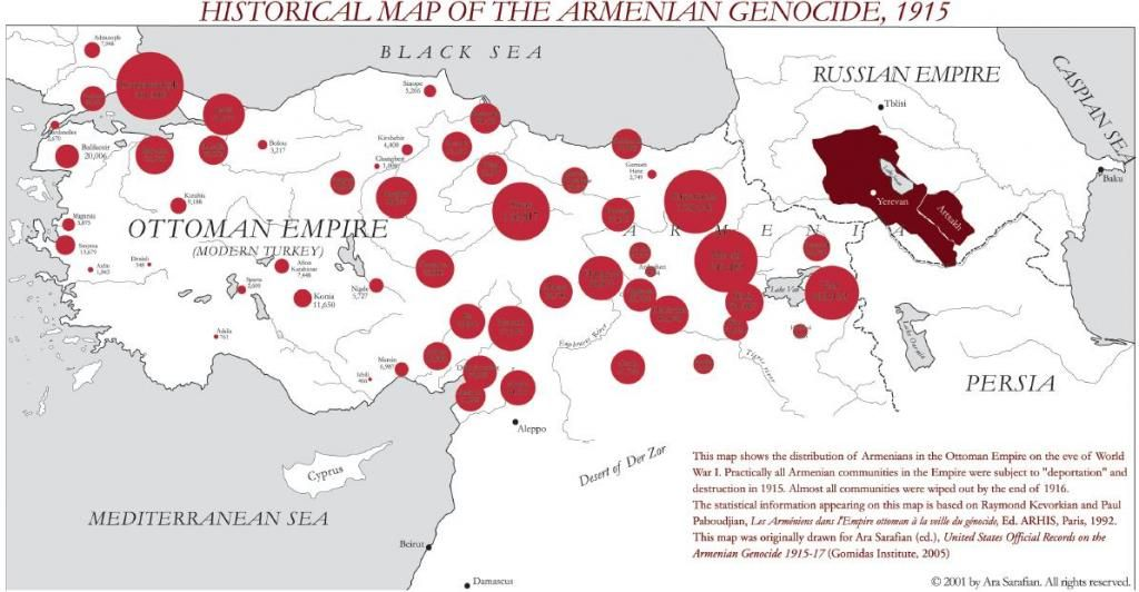 Historical Map of the Armenian Genocide, 1915