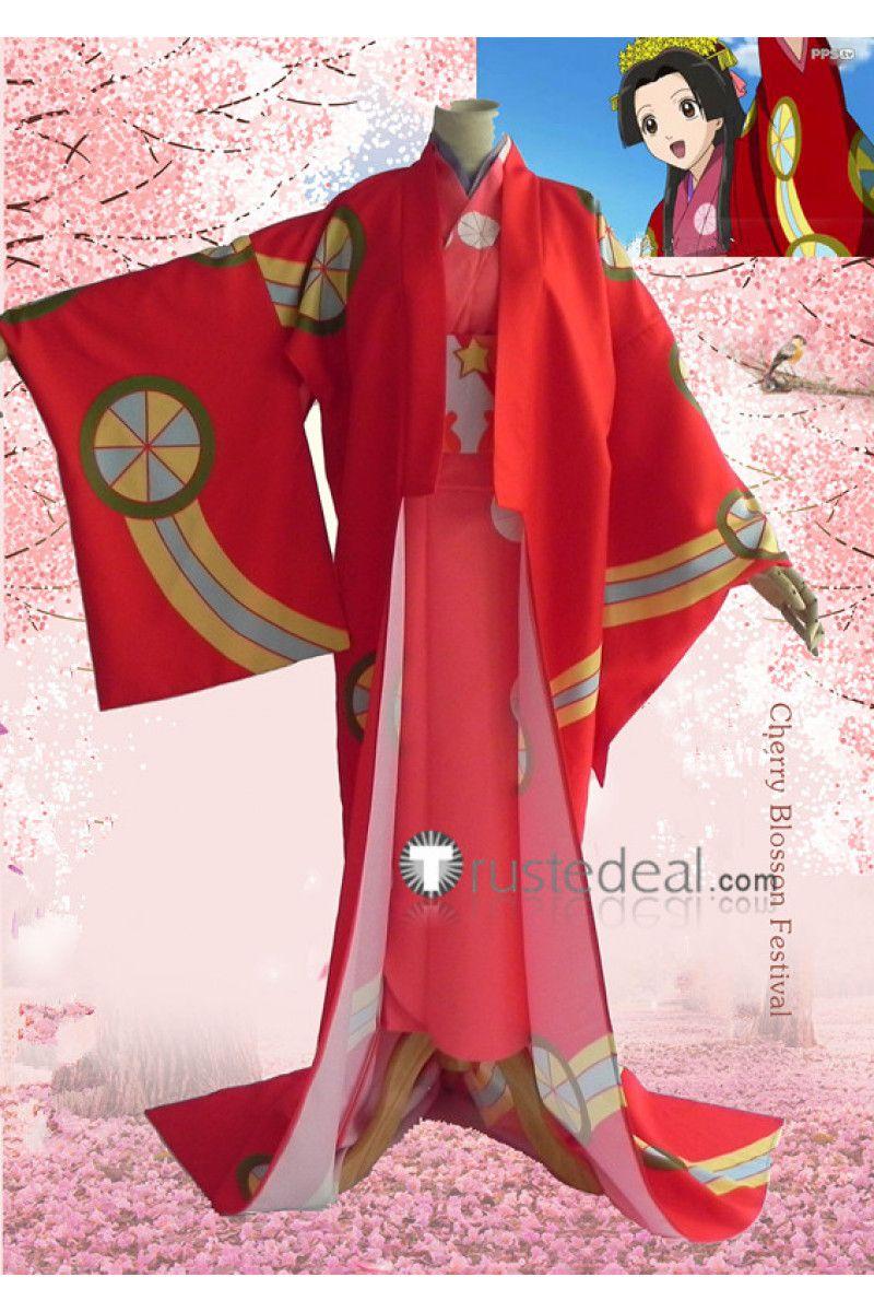 Gintama Tokugawa #Soyo #Princess Soyo Red #Kimono Cosplay Costume ...