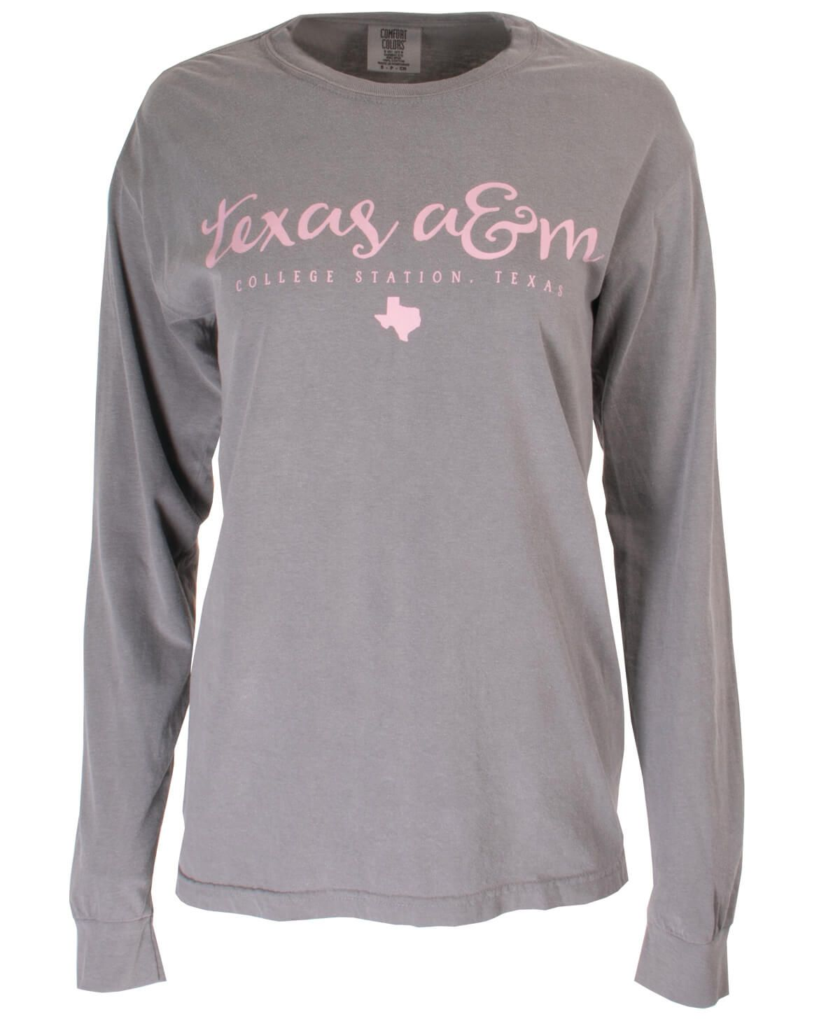 Texas A M Aggie Girly Pink Long Sleeve T Shirt Long Sleeve Tshirt Men Shirts Spirit Shirts