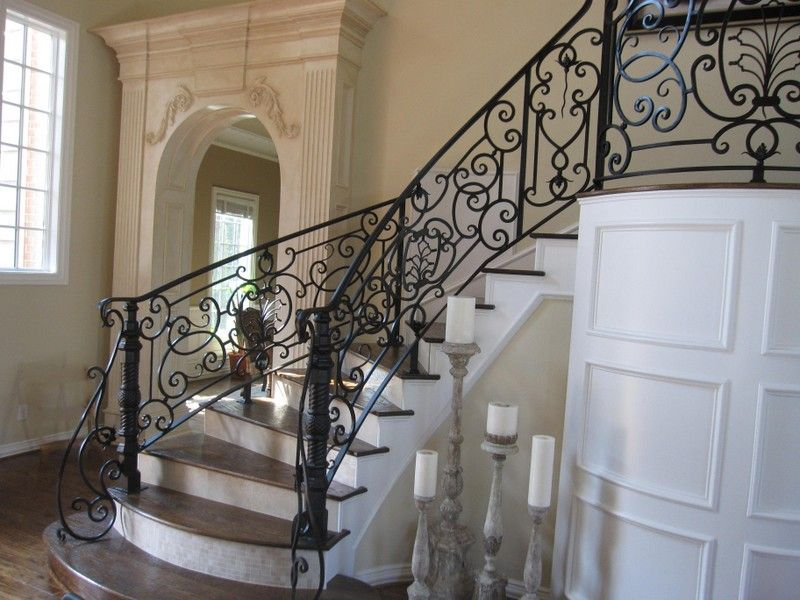 Elegant Portrait Of Wrought Iron Stair Railings For Creating Awesome Looking  Interior