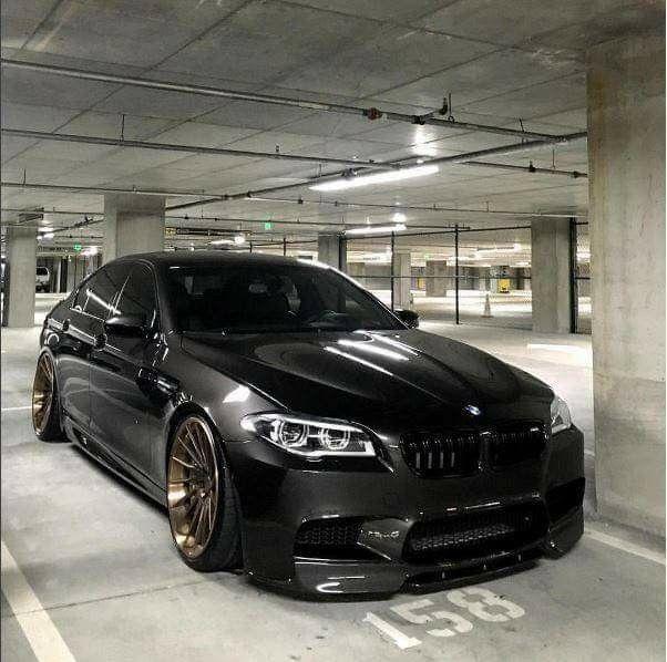 BMW F10 M5 black slammed   **123   車, バイク и カスタムカー
