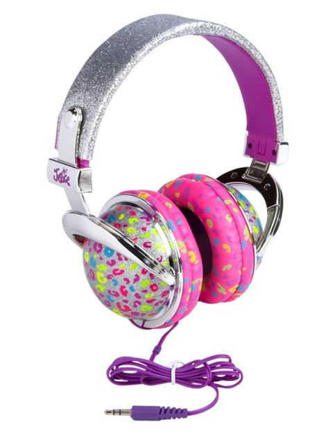 Silver Cheetah Headphones Girls Tech Accessories Beauty Room Tech Shop Justice Girl With Headphones Cute Headphones Headphones