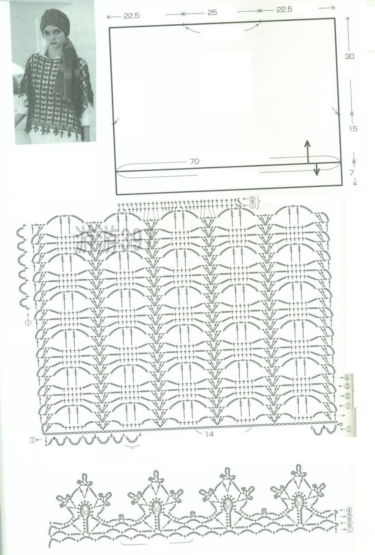 Jersey Chaleco Dibujo Calado Aranas - Patrones Crochet | Tığişi ...