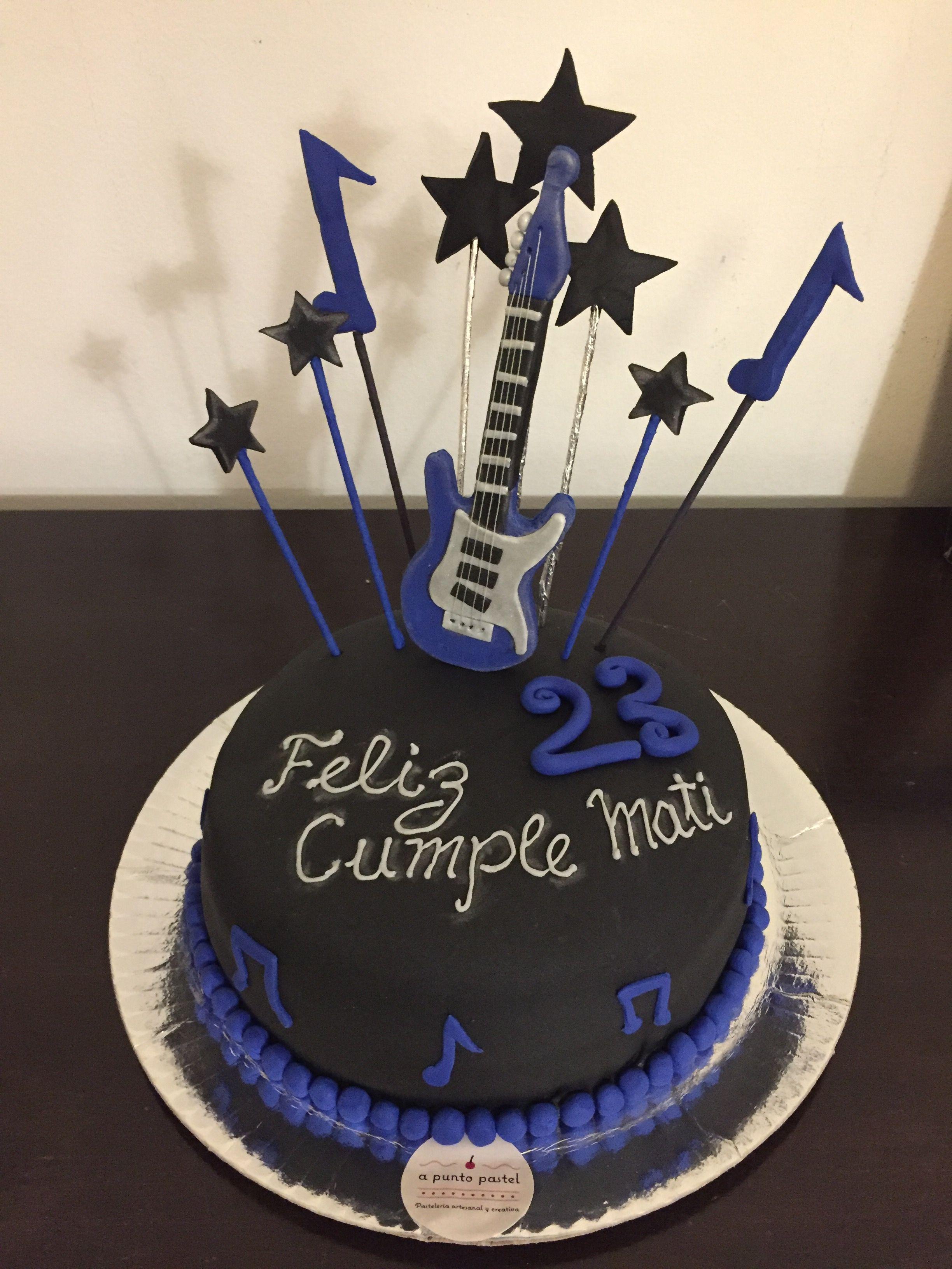 Torta Música Guitarra Eléctrica Torte Torta De Guitarra