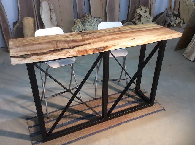 Ohiowoodlands Bar Table Base. Solid Steel Bar Table Legs. Bar Table Base.  Bar