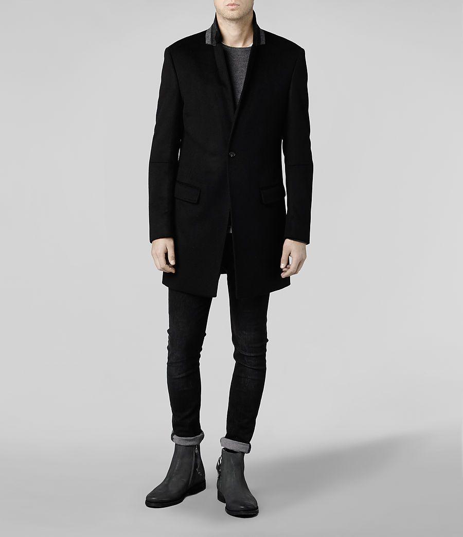Mens Serpent Coat (Black) | ALLSAINTS.com