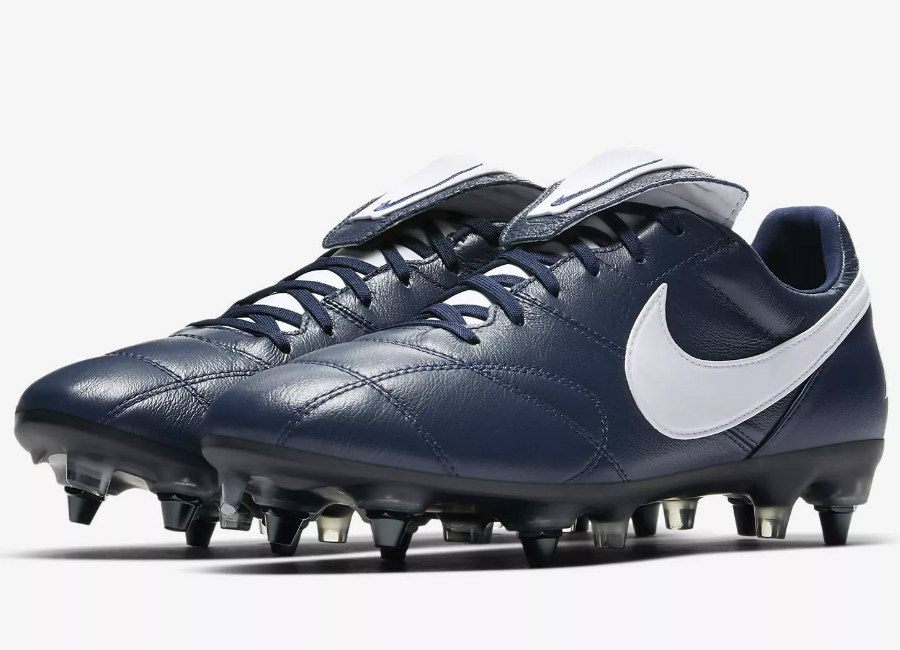 e9a057ad4  nikefootball  nikesoccer Nike Premier II Anti-Clog Traction SG-PRO -  Midnight Navy   Midnight Navy   White