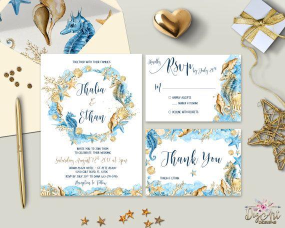 Seaside Wedding Invitations Midway Media
