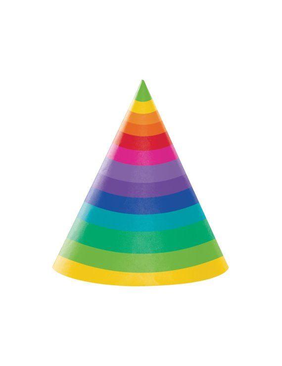 Rainbow Party Hat