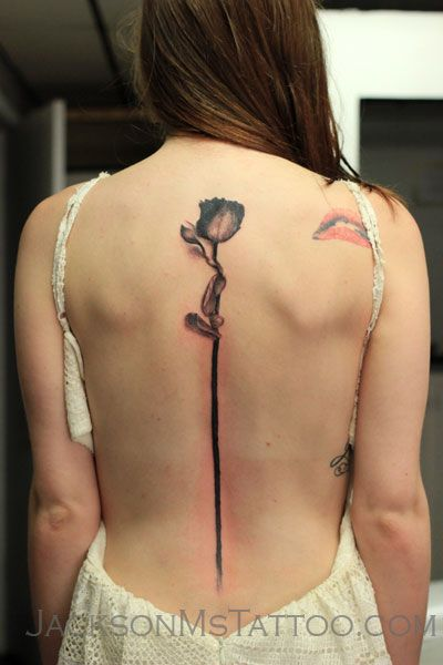 Rose Spine Tattoo By Justin Watters Ink Injection Tattoo