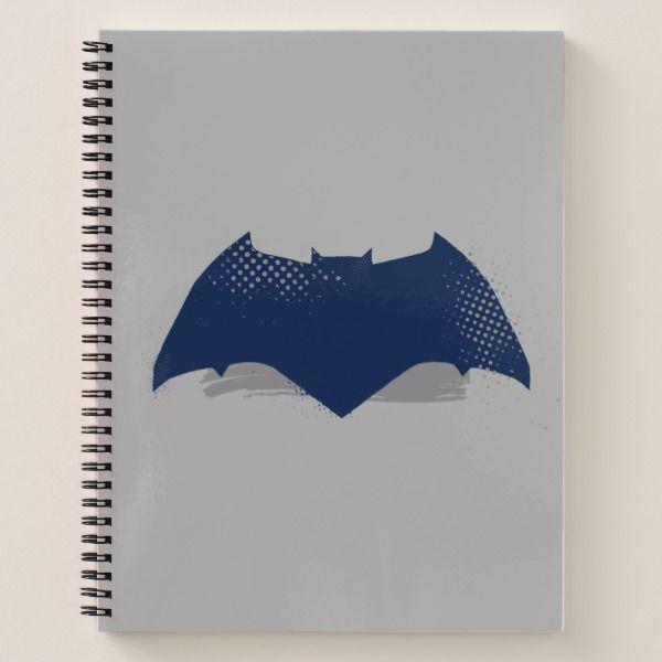 Justice League | Brush U0026 Halftone Batman Symbol Notebook Custom Office  Supplies #business #logo
