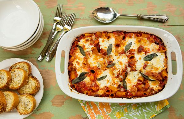 Baked pasta with ricotta cheese recipes
