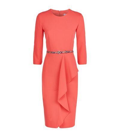 MAX MARA Biacco Belted Ruffle Dress. #maxmara #cloth #