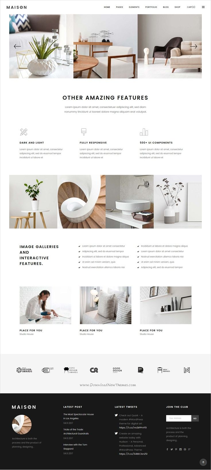 Maison Modern Theme For Interior Designers And Architects