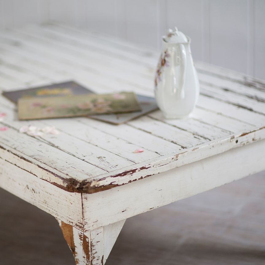 Vintage White Coffee Table From Rachel Ashwell Shabby Chic Couture