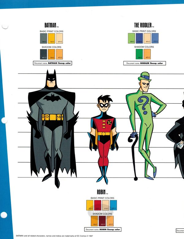 DC Style Guides??? Batman Beyond and Animated Series ...