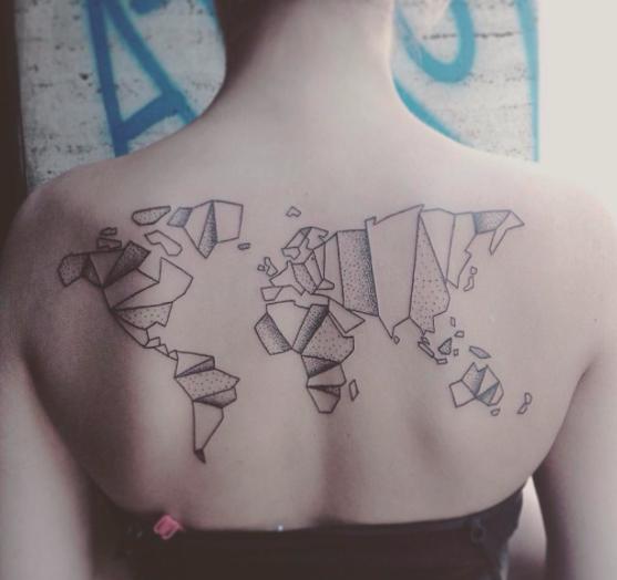 Minimalist world map tattoo milena kirsche tatto pinterest map minimalist world map tattoo milena kirsche gumiabroncs Choice Image