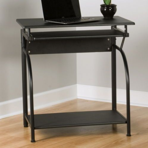 Modern Computer Desk With Pull Out Keyboard Tray Home Office Decor Black Finish Home Office Computer Desk Black Computer Desk Office Computer Desk
