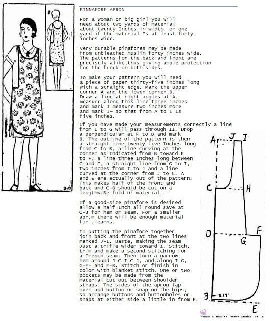 Wayward Creating: free 1920\'s apron pattern | 1920\'s Patterns ...