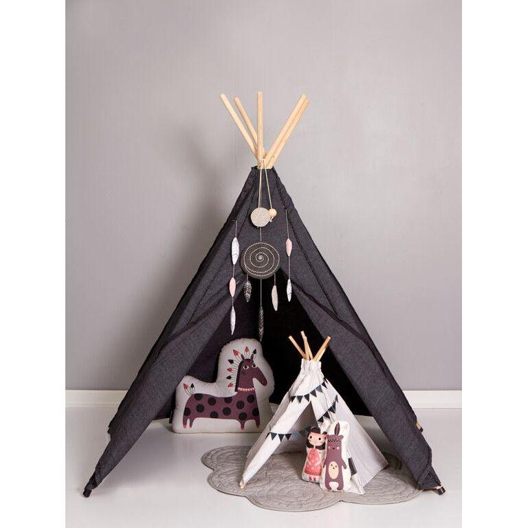 Indianerzelt Hippie Tipi aus Stoff, anthrazit, von roommate #Tipi ...