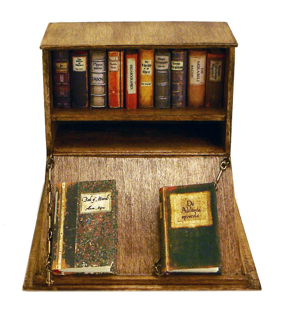 Medieval Alchemy Bookcase (With images) Miniature books