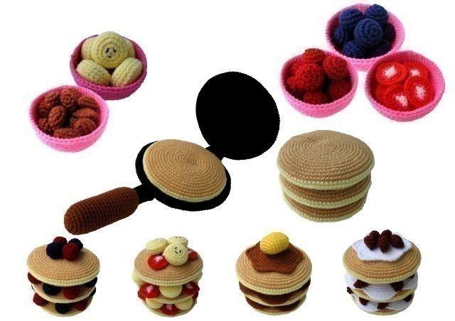 Crochet Pattern - PANCAKES - Toys / Playfood - PDF. $5.99, via Etsy.