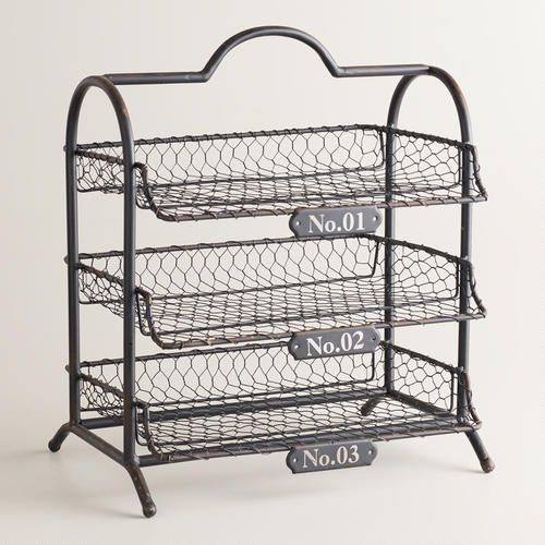 One of my favorite discoveries at WorldMarket.com: Espresso Austin 3-Tier Wire Tray