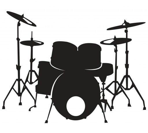 Drum Clipart Black Silhouette Drum Set Drums Art