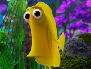 Bubbles from finding nemo fav characters from movies for Bubbles fish finding nemo