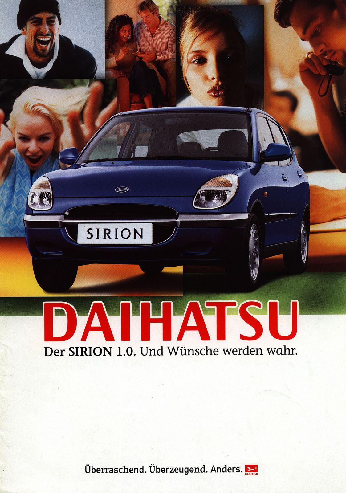 https://flic.kr/p/FvXpeG | Daihatsu Sirion 1.0. Und Wünsche werden wahr. 2000 | front cover car brochure by worldtravellib World Travel library