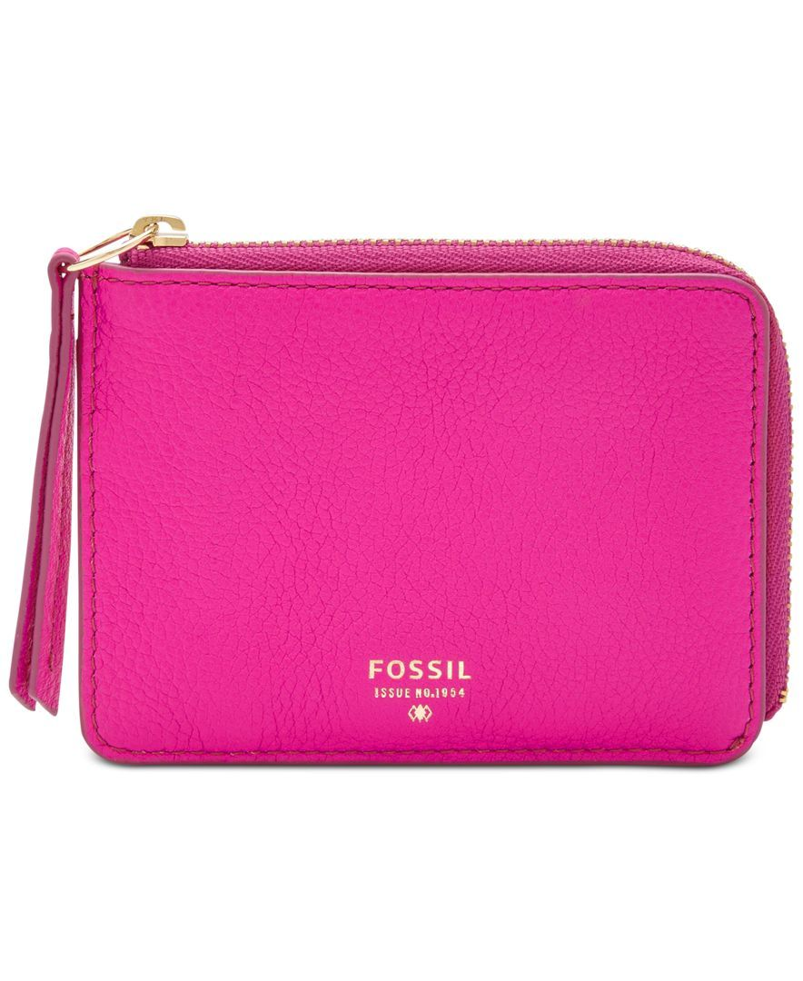 Fossil Sydney Leather Zip Coin Purse