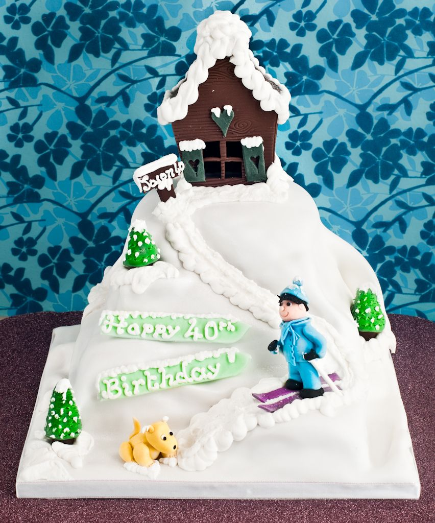 Awe Inspiring Snow Hill Birthday Cake How To Make This Into A Snowy Dirt Bike Birthday Cards Printable Nowaargucafe Filternl