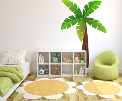 Jungle tree wall sticker by Stickerscape - Jungle theme - removable - wall decal - wall graphic - wall decal (Large)